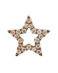 Rosa De La Cruz | Metallic 18k Burnished Gold Diamond Star Earring | Lyst