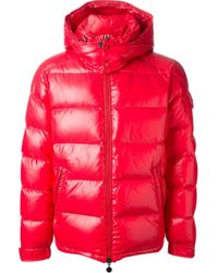 Moncler | Red 'maya' Padded Jacket for Men | Lyst