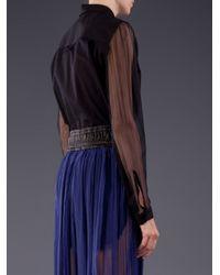 Damir Doma Black Sheer Sleeve Shirt