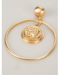 Versace | Metallic 'medusa' Hoops | Lyst