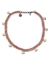 Venessa Arizaga Multicolor 'clockwork Orange' Necklace
