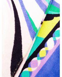 Emilio Pucci Blue Printed Beach Towel