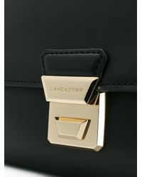 Lancaster Black Chain Strap Shoulder Bag