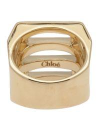 Chloé - Metallic Chloé Chunky Cut-out Ring - Lyst