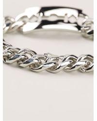 McQ - Metallic Razor Blade Bracelet - Lyst