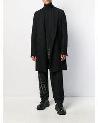 Pantaloni con stampa di Yohji Yamamoto in Black da Uomo