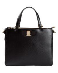 Ferragamo Black - 'tracy' Satchel - Women - Calf Leather - One Size