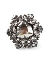 Lanvin | Metallic Embellished Ring | Lyst