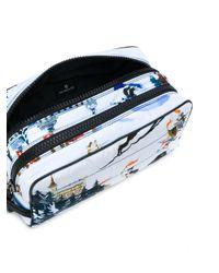 Moncler Blue Ski Print Wash Bag