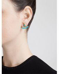 Yvonne Léon - Blue Yvonne Léon 18k Yellow Gold And Turquoise Lobe Earring - Lyst