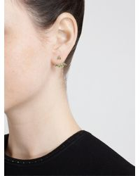 Yvonne Léon - Green Yvonne Léon 18kt White Gold And Tsavorite Lobe Earring - Lyst