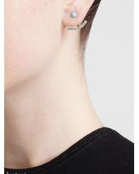 Yvonne Léon | Metallic Yvonne Léon 18k Yellow Gold & Diamond Lobe Earring | Lyst