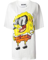 Moschino White Spongebob Oversize T-shirt