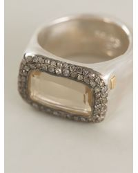 Rosa Maria - Gray 'nasila' Grey Diamond Topaz Ring - Lyst