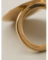 Ann Demeulemeester - Metallic 'shiny Lens' Ring - Lyst