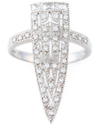 V Jewellery | Metallic 'royal Sword' Ring | Lyst
