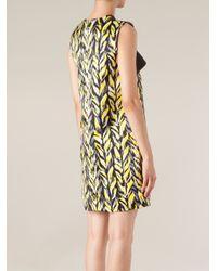 Balenciaga - Black Layered Printed Shift Dress - Lyst