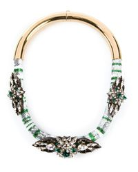 Shourouk | Green 'mamba' Necklace | Lyst
