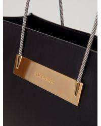 Balenciaga - Black 'cable Shopper S' Tote Bag - Lyst