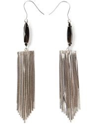 Iosselliani | Metallic 'metal Instinct' Fringed Earrings | Lyst