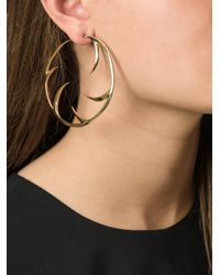 Shaun Leane - Metallic 'multi Cat Claw' Hoop Earrings - Lyst