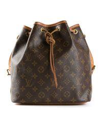 Louis Vuitton Brown Monogram Petite Bucket Bag