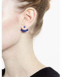 Yvonne Léon - Blue Yvonne Léon 18kt Gold And Lapis Lazuli Lobe Earring - Lyst