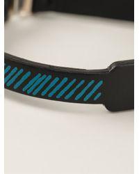 JvdF - Black Hand-painted Repp Stripe Bracelet for Men - Lyst