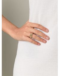 Aurelie Bidermann - Metallic 'apache' Ring - Lyst