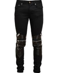 Saint Laurent | Black Zip Detail Jeans for Men | Lyst