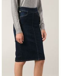 Citizens of Humanity Blue Denim Pencil Skirt