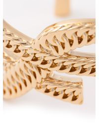 Saint Laurent - Metallic 'monogram' Bracelet - Lyst