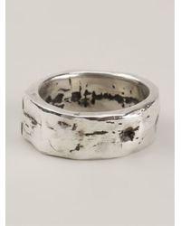 Henson | Metallic Textured Band Ring | Lyst