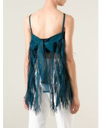 Issey Miyake - Blue 'me' Fringed Top - Lyst