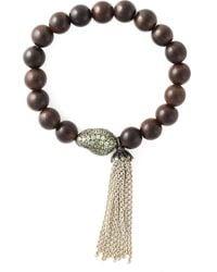 Loree Rodkin | Metallic Diamond Beaded Bracelet | Lyst