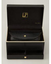 Linda Farrow | Metallic ' 38' Sunglasses | Lyst