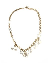 Lanvin | Metallic Key And Heart Pendant Necklace | Lyst