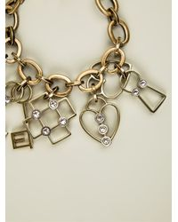 Lanvin | Metallic Charm Pendant Bracelet | Lyst