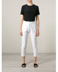 MM6 by Maison Martin Margiela | White Cropped Trousers | Lyst