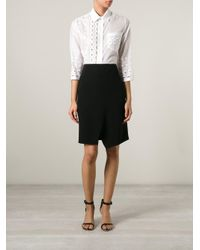 Ermanno Scervino - White Embroidery Details Shirt - Lyst