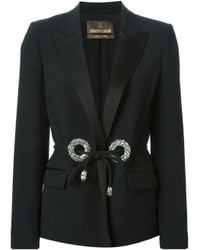 Roberto Cavalli | Black Swarovski Rings Blazer | Lyst