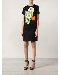 Christopher Kane | Black Decades Floral Shift Dress | Lyst