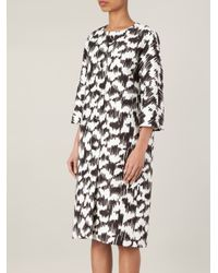 Balenciaga - Black Abstract Print Coat - Lyst