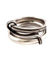 Werkstatt:münchen | Metallic Werkstatt:münchen Connected Ring for Men | Lyst