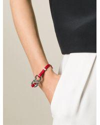 Ferragamo - Metallic Gancini Bracelet - Lyst