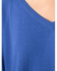 Moncler | Blue Cropped Boxy Sweater | Lyst