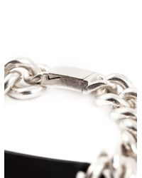 Maison Margiela | Metallic Plaque Chain Bracelet for Men | Lyst