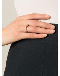 Puro Iosselliani Black Garnet Skull Ring