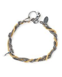 Puro Iosselliani Blue Sapphire Ring Tangled Bracelet
