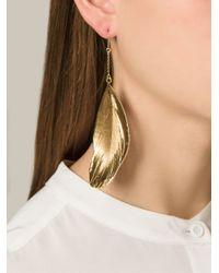 Aurelie Bidermann - Metallic Swan Feather Earrings - Lyst